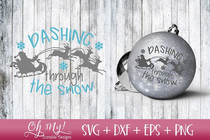 Dashing Through The Snow - SVG DXF EPS PNG