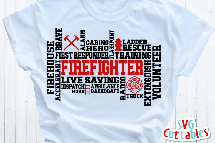 Firefighter Word Art | Cut File