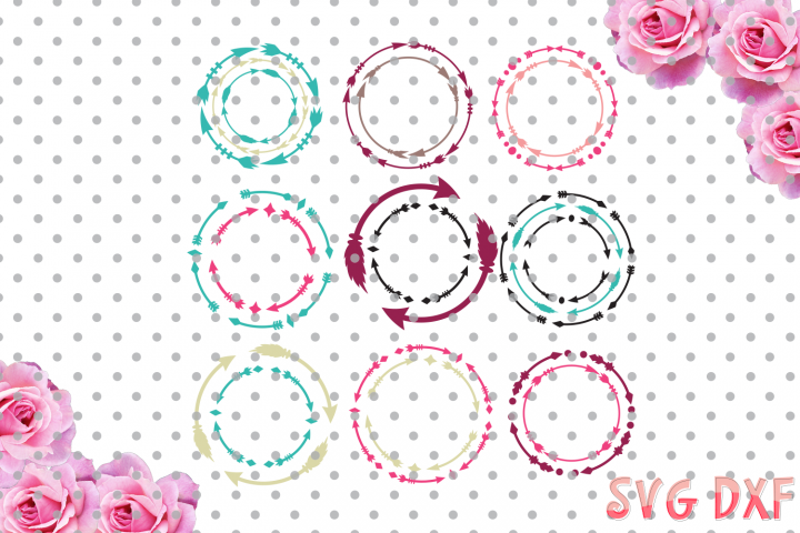 Arrow Monogram Frames, Svg cutting file, cool arrow Designs SVG, DXF, Cricut Design Space, Silhouette Studio,Digital Cut Files