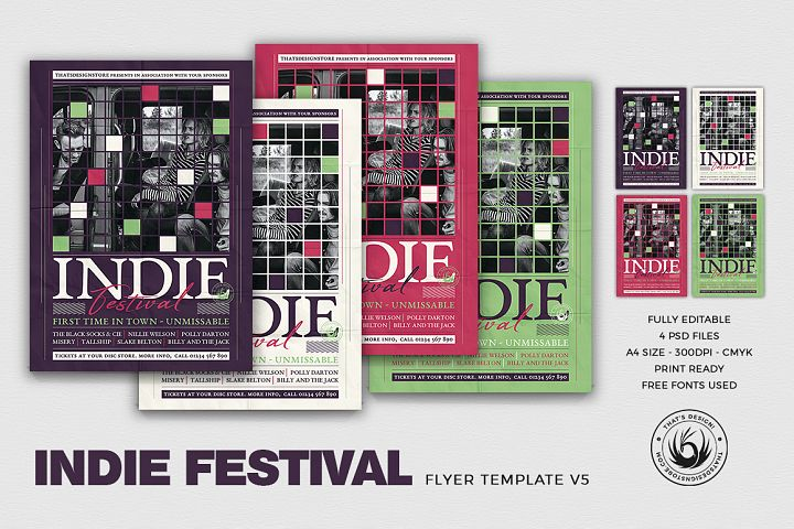 Indie Fest Flyer Template V5