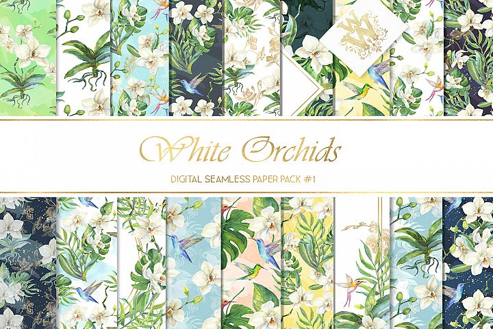 Tropical flower seamless pattern, summer paper pack, wedding