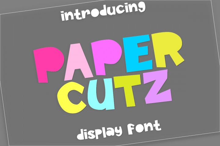 Paper Cutz Display Font