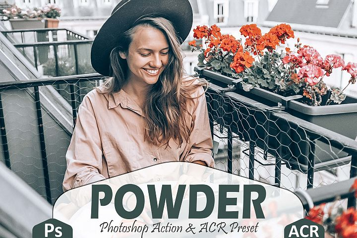 10 Powder Photoshop Actions And ACR Presets, Instagram Theme
