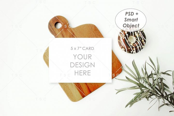5 x 7 Card Mockup / Recipe Card / Kitchen Card / Donut