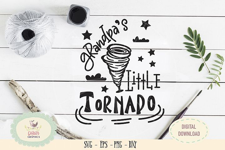 Grandpa little tornado SVG cut file fathers day svg
