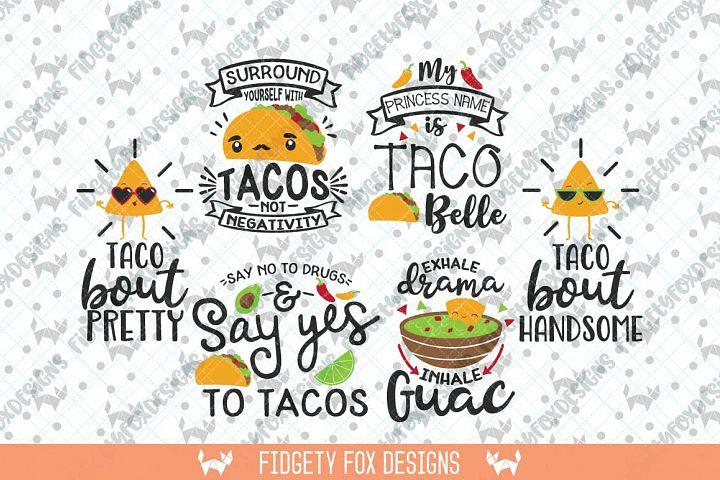 Taco Svg Bundle, Taco Tuesday Svg, Fiesta Svg, Taco Clip art, kawaii svg, princess svg, Svg files for cricut