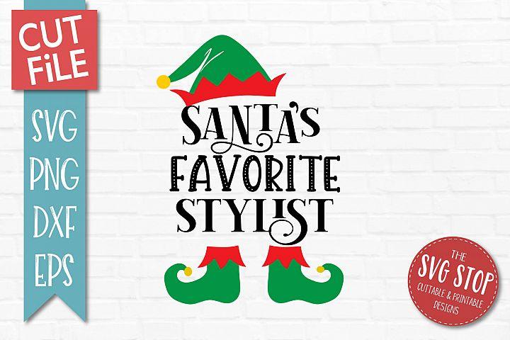 Santas Favorite Stylist SVG, PNG, DXF, EPS
