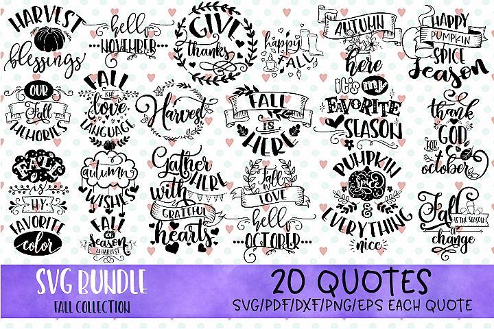 SVG Bundle Fall, Harvest SVG, Farm SVG, Autumn quotes svg