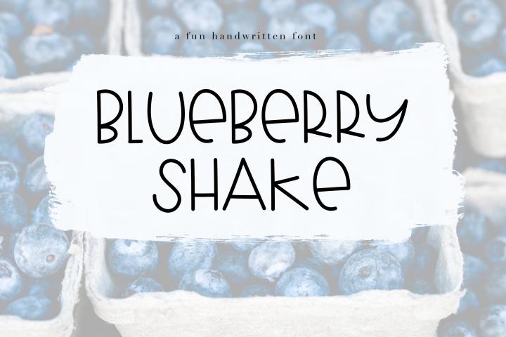 Blueberry Shake - Handwritten Font