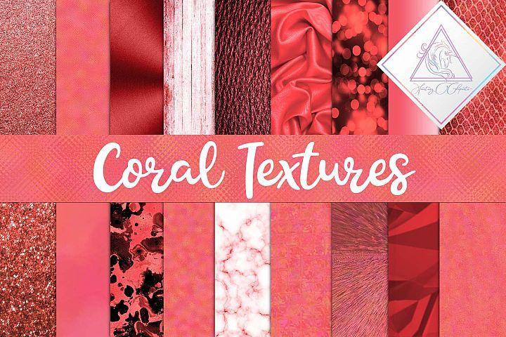 Coral Textures Digital Paper