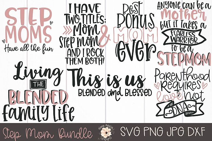 Step Mom Svg Bundle