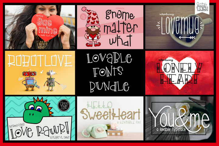 Kitaleigh Lovable Fonts Bundle $96 Value!