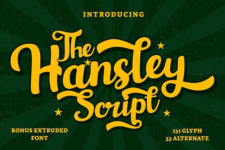 Hansley - Retro Font