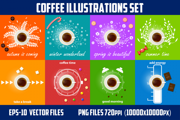 Coffee theme illustration.