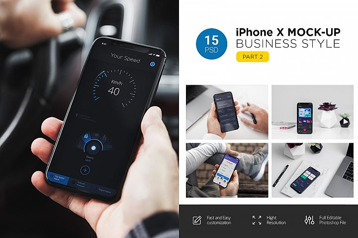 iPhone X Mock-Up Business Style