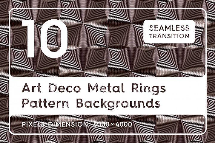 10 Art Deco Vintage Rings Pattern Backgrounds