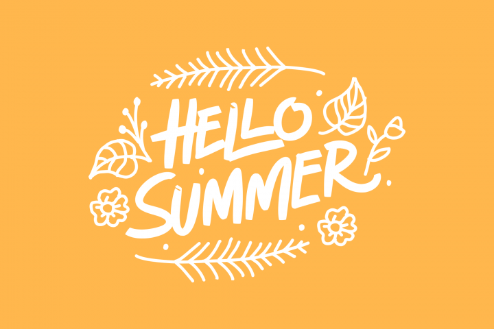 Hello Summer Typography