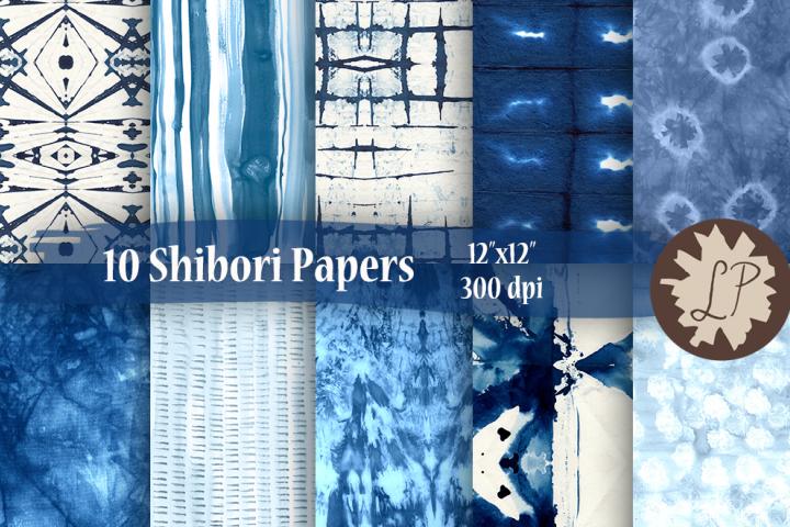 Indigo Blue Japanese Style Shibori Paper Pack