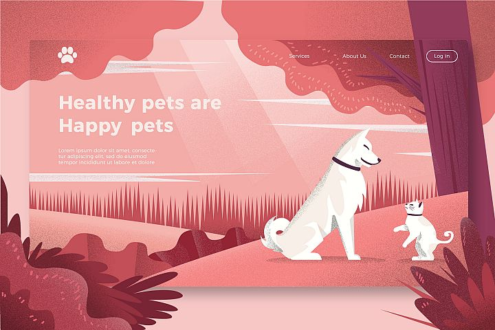 Cat and Dogs - Banner Page