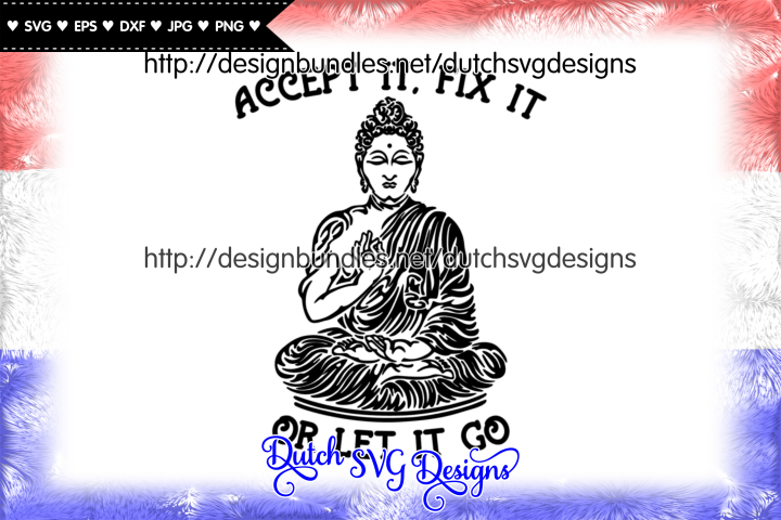 Text cutting file with buddha, buddha vector, buddha svg
