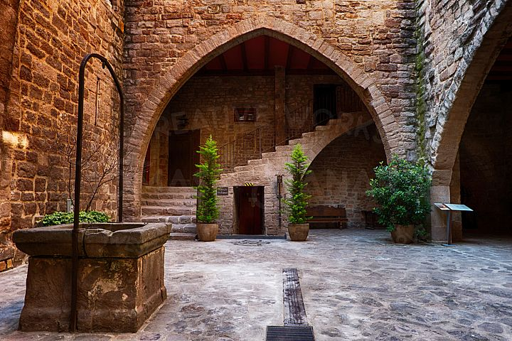 Inner Courtyard Of Cardona Castle 5 - Photo