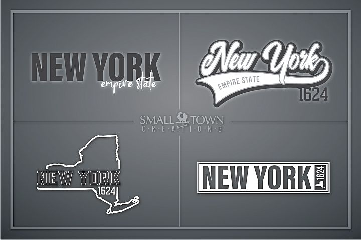 New York, Empire State - slogan, PRINT, CUT & DESIGN