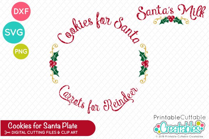 Cookies for Santa Plate SVG