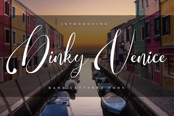 Dinky Venice - Hand lettered font