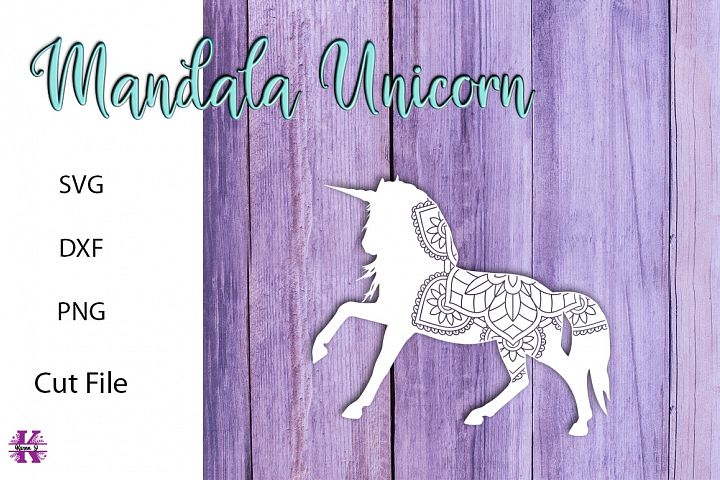 Mandala Unicorn SVG Cut File