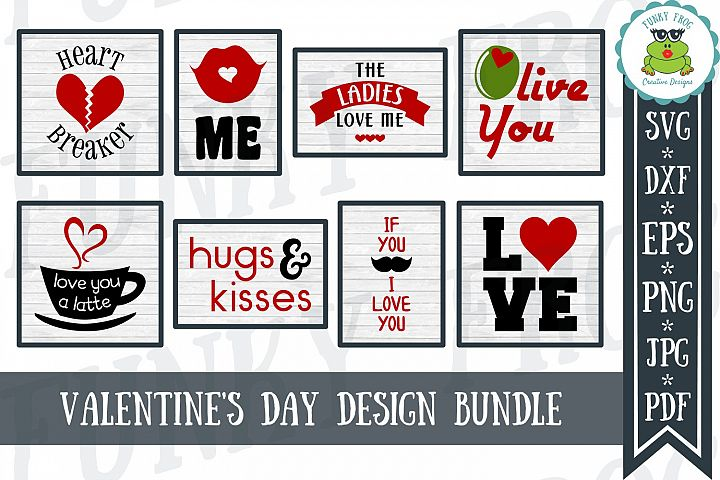 Valentines Day Design Bundle - SVG Love Cut Files