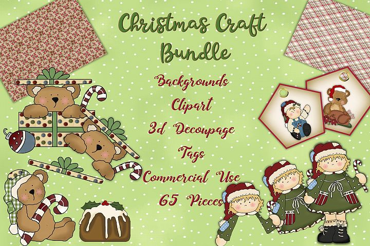 Christmas Crafts Bundle JPEG and PNG Commercial Use