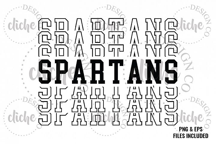 Spartans Sublimation Design & Bonus Vector Files