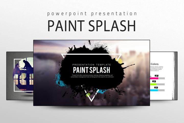 Paint Splash Presentation Template