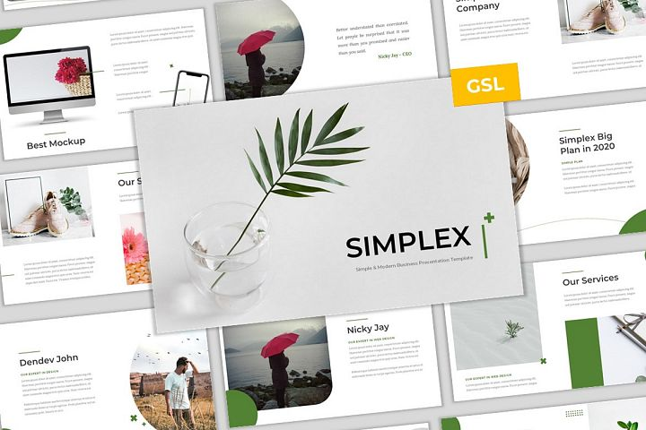 Simplex - Simple & Modern Business Google Slides Template