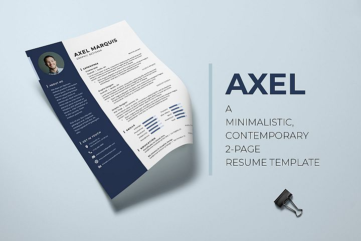 Axel - A Simple & Modern Resume Template
