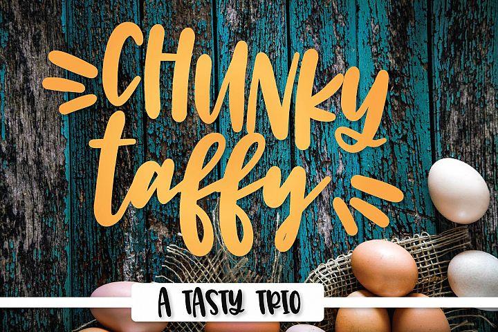 Chunky Taffy - A Script Print & Dingbat Hand Lettered Trio!