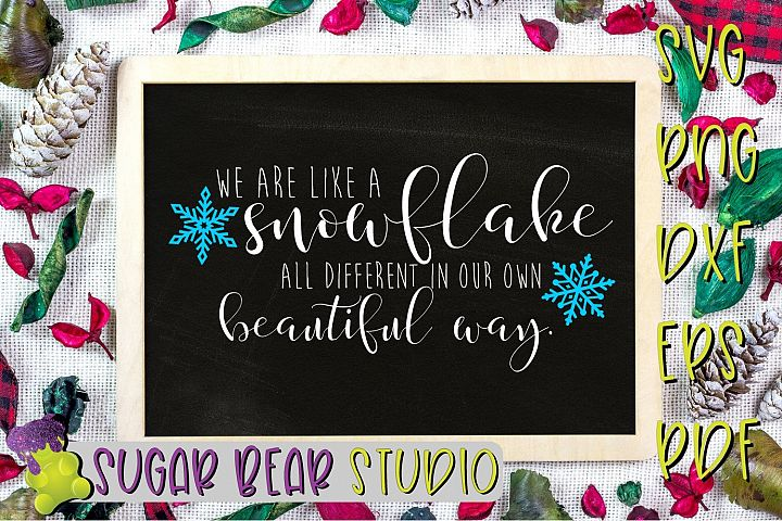 We Are Like A Snowflake Different In Our Own Beautiful Way