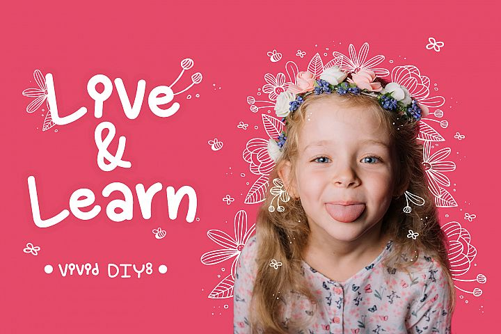 Live and Learn Baby Font- Handwritten Kawaii style!