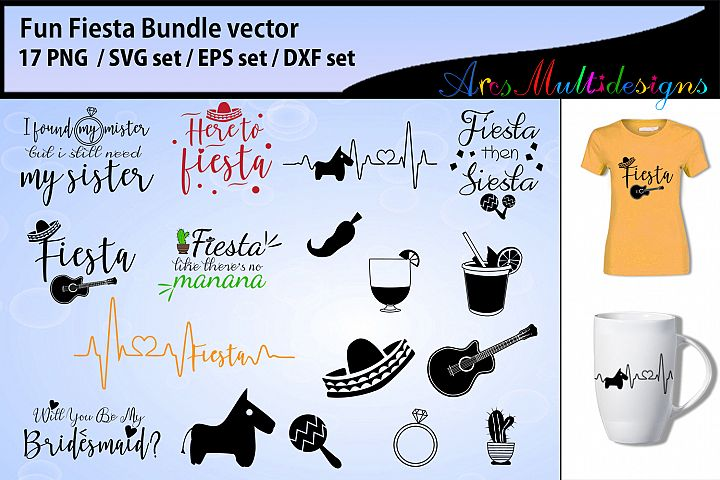 Fiesta Fun Bundle SVG DXF PNG and EPs / Fiesta bundle svg