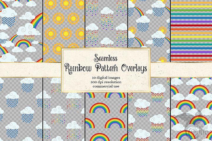 Rainbow Pattern Overlays