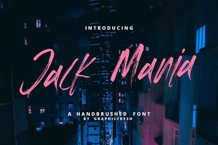 The JACK MANIA Brush Font