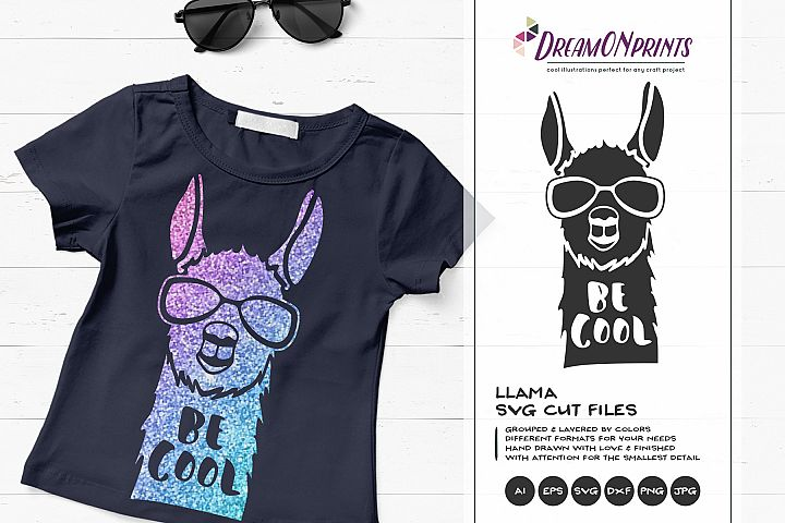 Be Cool - A Fun Llama SVG