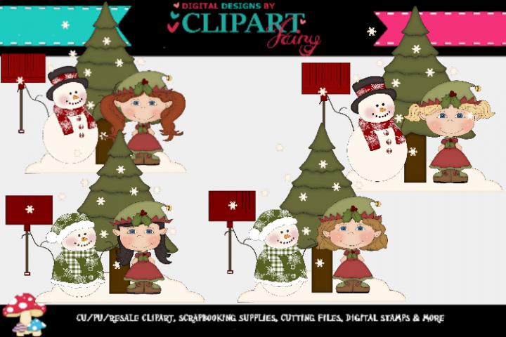 Christmas Elf Girls 10 example image 1