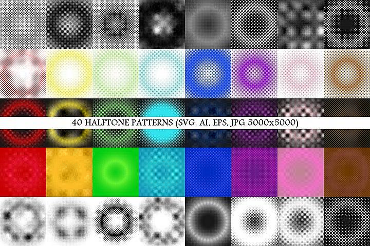 40 Halftone Patterns