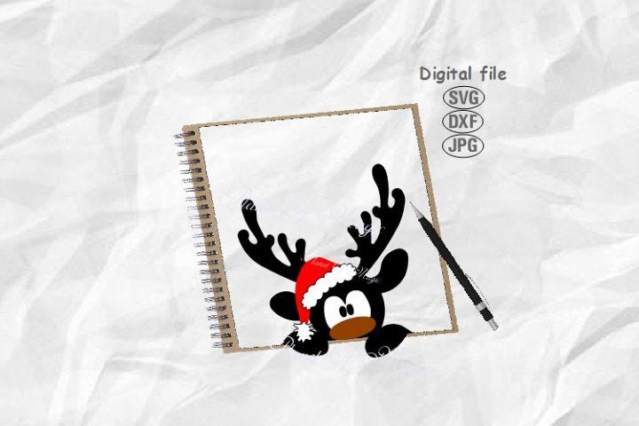 Reindeer Svg, Santa Deer Svg, Christmas Reindeer Svg,Rudolph