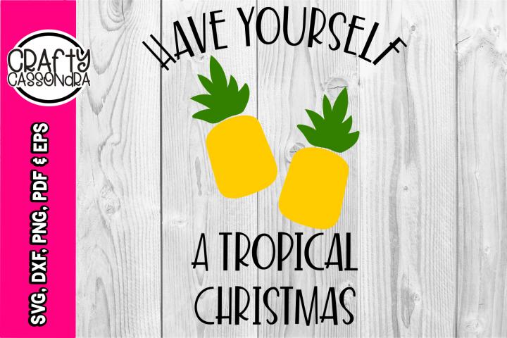 Christmas svg - Tropical Christmas - Beach Christmas holiday