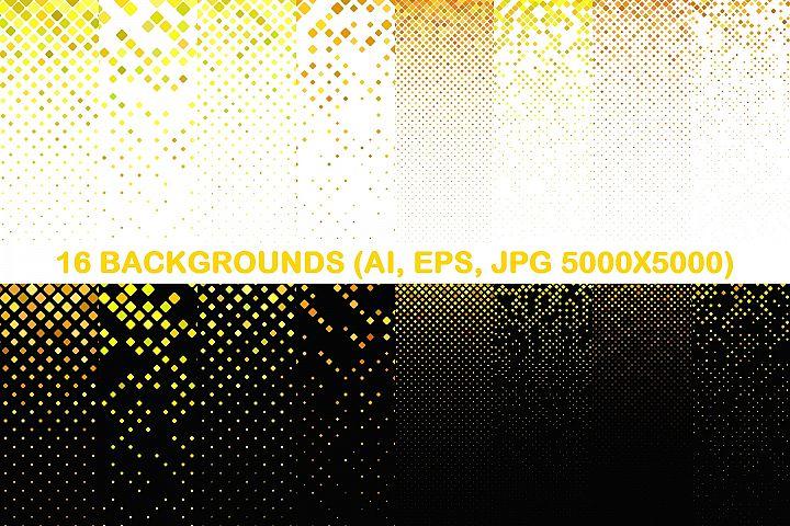 16 Yellow Square Patterns