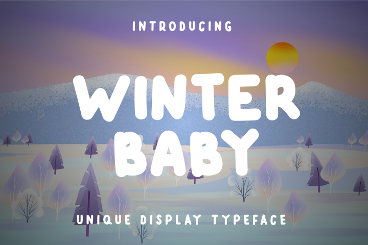 Winter Baby Display Font