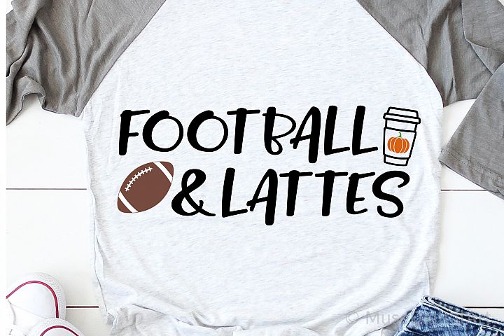 Football and Lattes Svg, Fall Svg, Autumn Svg Funny Fall Svg