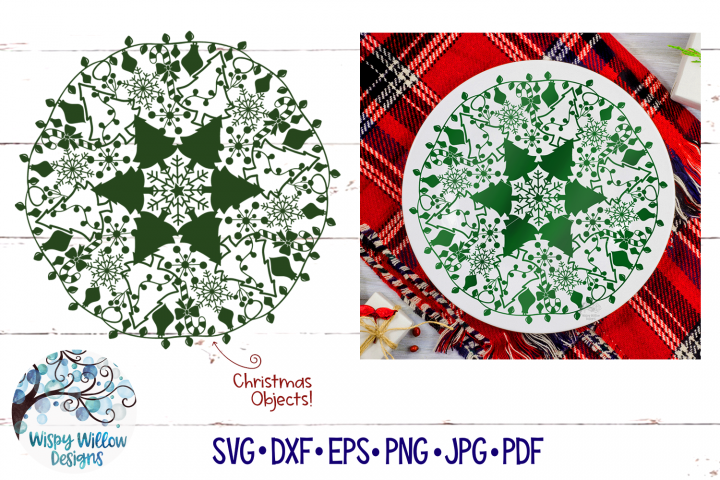 Christmas Mandala SVG | Christmas SVG Cut File